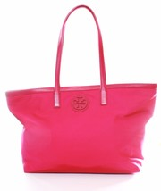 Tory Burch Dena Nylon Shopper Tote Bag Carnation Red Large Handbag RRP £260 - $5.354,78 MXN