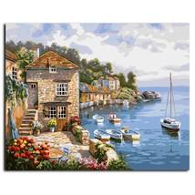 Paint By Number Kit Coast Landscape DIY Picture Artwork 40x50cm 16x20inc... - $12.39+