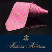BROOKS BROTHERS 346 Pink With  Green Blue Flowers  Luxury Romantic Tie - $47.84