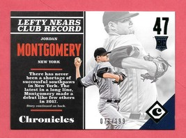 2017 Jordan Montgomery Panini Chronicles Rookie Green /199 - New York Ya... - $1.89