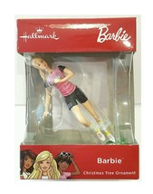 Hallmark 2018 Soccer Barbie Christmas Tree Red Box Edition Ornament New - $5.89