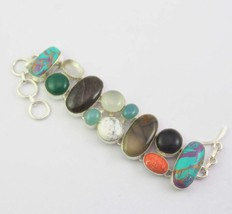 Multi-Stone Silver Plated Bracelets Jewelry RS-36-11 - $13.99