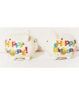 Happy Birthday Mini Piggy Banks, Lot of 2 - $4.88