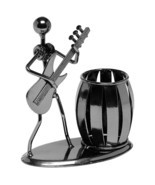 Pencil Guitar Rocker Pen Holder Cup Desktop Organizer Dispenser Barrel S... - $19.48