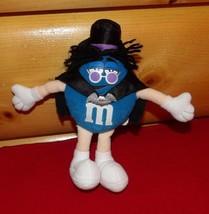 "M & M's Candy Blue Plush 7"" Rock Star SLASH in Black Bat Cape* Top Hat W... - $6.99"