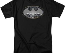 DC Comics Batman silver logo adult graphic t-shirt BM1754 image 3