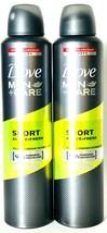 2 Count Dove 250 mL Men Care Sport Active Fresh 48 Hour Antiperspirant Spray  - $21.99