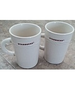 Starbucks Collectable 2010 Mug Cup Set of 2 10 oz ceramic Microwave Dish... - $21.77