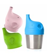 Silicone Sippy Cup Lids - Perfect Transition from Baby Bottle to Kids Cu... - $13.49