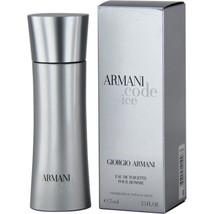 Armani code ice By GIORGIA ARMANI Eau De Toilette 2.5 oz Sealed - $59.17