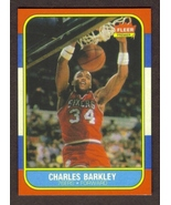 CHARLES BARKLEY Rookie Card RP #7 76ers RC 1986 F Free Shipping - $2.95