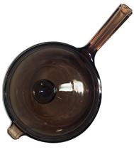 Vtg Vision Corning USA Amber Saucepan V-2.5N and  Lid V 2.5 C Pyrex Corn... - $28.00