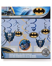 DC Comics Batman Swirl Hanging Decorations Party Supplies Value Pack Dar... - £7.74 GBP