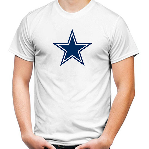 Primary image for Dallas Cowboys Tshirt White Color Short Sleeve Size S-3XL