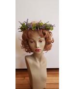 Lassy head wreath, fairy pixie St Patty Bells of Ireland lavender heathe... - $30.00