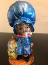 Vintage  Hand Painted 10 inch Shortcake Ceramic Girl Figurine Signed - $11.30