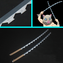 Kimetsu no Yaiba Inosuke Hashibira Nichirin Blades Cosplay Replica Props... - $115.00