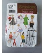 Simplicity Barbie Doll Clothing Pattern Vintage 5785 W/Pre-Cut Vintage F... - $37.19