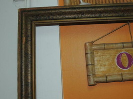 "Antique 26""x16.5"" 1900s Picture Frame Victorian bronze & black mottled - €86,08 EUR"