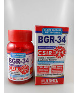BGR 34 DIABETIC 100 Tablets HERBAL AYURVEDIC Antioxidant Glucose Metabol... - $16.75
