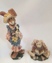 2 Boyds Bears & Friends Prudence...Daffodils Daphne..the Reader Hare Folkstone - $14.92