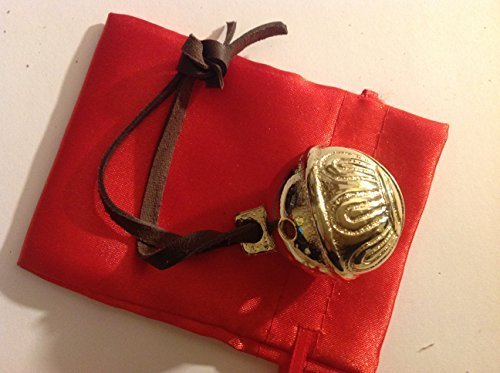Gold Brass Believer Polar Reindeer Express Sleigh Bell Shiny Double Plated