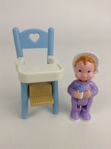 Fisher Price Loving Family Dream Dollhouse High Chair Girl Baby L3 Vinta... - $18.66