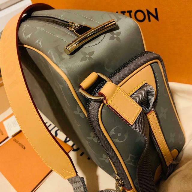 Louis Vuitton Sac Camera Shoulder Bag M43884 Monogram Titanium Canvas Auth New
