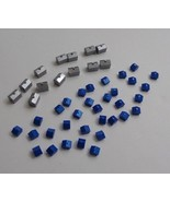 Monopoly Here And Now Game Pieces Parts 33 Blue Houses 13 Silver Hotels ... - $9.79