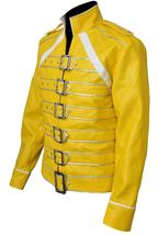 Freddie Jacket Tribute Concert Belted Motorcycle Yellow PU Leather Costume image 4