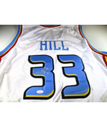 GRANT HILL / NBA HALL OF FAME / HAND SIGNED DETROIT PISTONS CUSTOM JERSE... - $98.95