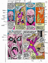 Original Spider-man Marvel color guide art: Captain America vs Zemo/Sal ... - $99.50