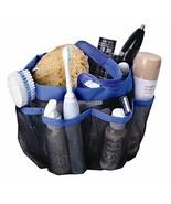 Dorm Shower Caddy Mesh Blue 8 Pockets Portable Tote Bag Quick Dry Bath O... - $14.14