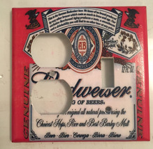 Budweiser Beer Logo Light Switch Power Duplex Outlet wall Cover Plate Home decor image 8