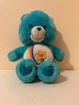 "Plush Stuffed Care Bears Thanks-A-Lot Bear Talks 12"" Play Along 2004 - $19.80"
