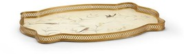 Tray CHELSEA HOUSE Gold Accent Leaf Iron New Hand-Painted - $449.00