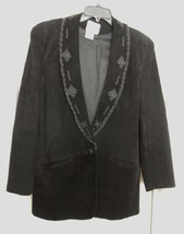 Pia Rucci Women's Jacket Coat Blazer Suede Leather Western Embroidered B... - $59.94