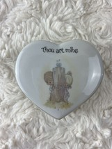 "Vintage Precious Moments Porcelain Heart from Enesco ""Thou Art Mine"" 3.5... - $10.40"