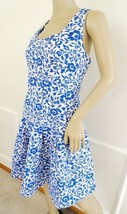 Nwt Betsey Johnson Fit & Flare Jacquard Dress Sz 10 Ivory Blue Floral  $198 - $1.134,95 MXN