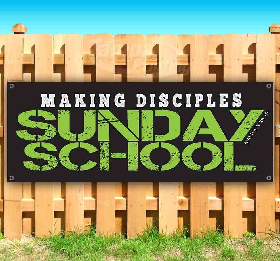 SUNDAY SCHOOL Advertising Vinyl Banner Flag Sign Many Sizes USA CHURCH