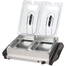 Betty Crocker Stainless Steel Buffet Server With Warming Tray WACBC2587CY - $2.070,99 MXN