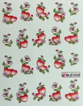Bang Store Nail Art Water Decals Red Hearts W Flowers Cute And Funny - $2.11