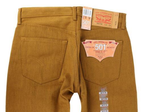 NEW LEVI'S 501 MEN'S ORIGINAL FIT STRAIGHT LEG JEANS BUTTON FLY ORANGE 501-1679