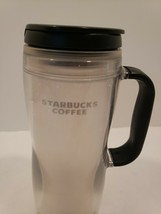 Black white starbucks sparkles Tumbler insulated coffee travel mug 12oz ... - $16.34
