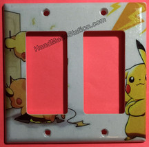 Pokemon Pikachu Battery Wall Charge Light Switch Outlet Cover Plate Home Decor image 4