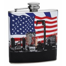 6 oz Patriotic City by Top Shelf Flask - $15.44
