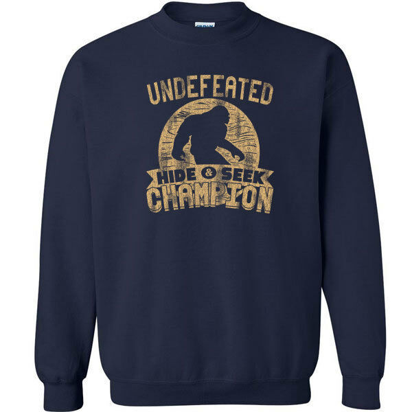 487 Undefeated Hide and Seek Champion Crew Sweatshirt sasquatch big foot new image 9