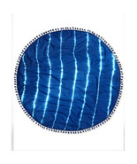 NWT Collection XIIX Blue Tie-Dye Cotton Circle Wrap, Scarf & Cover‑Up in... - $14.99