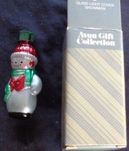 Collectible Avon Glass Light Cover – Snowman – NEW IN BOX – CUTE HOLIDAY... - $14.84