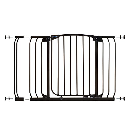 Dreambaby Chelsea 38-46in Auto Close Security Gate w/Stay Open Feature- Black